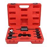 Injector Extractor, 8Pcs Injectors Demontagewerkzeuge Diesel Extractor Set Common Rail Injektor Extractor Diesel Abzieher Set Injection Tool Kit mit Tragetasche