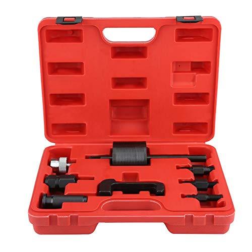 Inyectores Extractor Qiilu Cortadores de asiento de inyector de diésel Juego de 8 piezas para cochera con una caja de almacenamiento