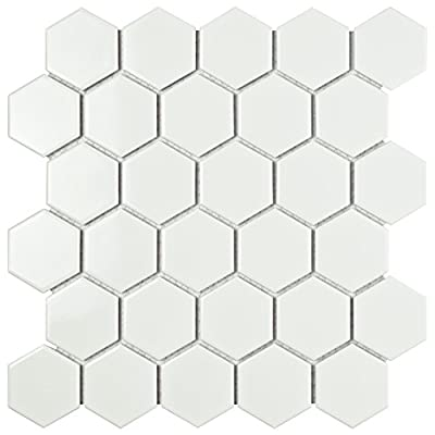 SomerTile Retro Hex Porcelain Floor and Wall Tile