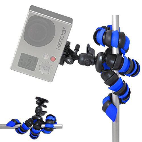 """Phone tripod,Universal 12"""" Inch Digital SLR Flexible Tripod Wrapable Legs Quick Release Portable and Adjustable Camera Stand Holder with Clip for iPhone, Android Phone, Camera, Sports Camera GoPro"""