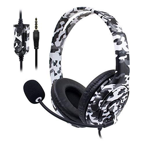 LFYPSM Microfono per Cuffie da 3 5 Mm per Cuffie da Gioco (per Bicchiere Sony Playstation4 PS4) per Nintendo Switch,White