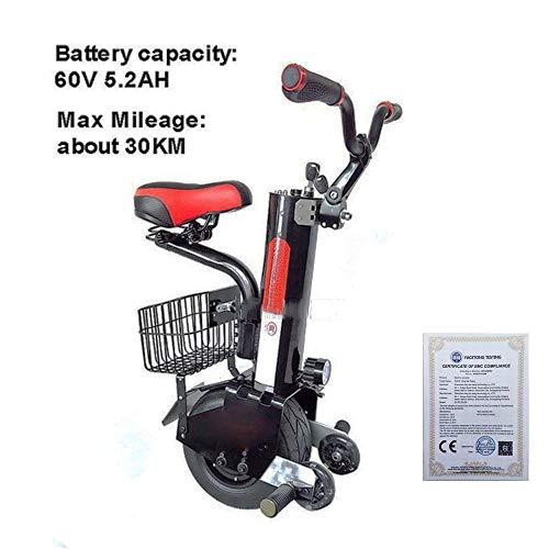 Single-Wheeled Motorcycle Single-Wheeled Elektrischen Motorrad-Batterie 500W 10-Zoll-intelligente Self-Balancing Elektro Einrad Scooter Stützrad Mit CE-Zertifizierung 2020 (Size : 30KM)