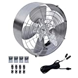 ECO-WORTHY 3000 CFM 65W Air Vent Gable Mount Power Attic Ventilator Fan