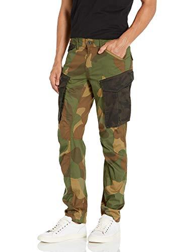 G-STAR RAW Men's Rovic Mix 3D Tapered Pants, Lt Aged Olive/Bronze Green Ao, 32W x 34L