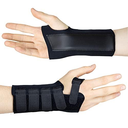Actesso Black Neoprene Wrist Support Brace - Carpal Tunnel Splint -...