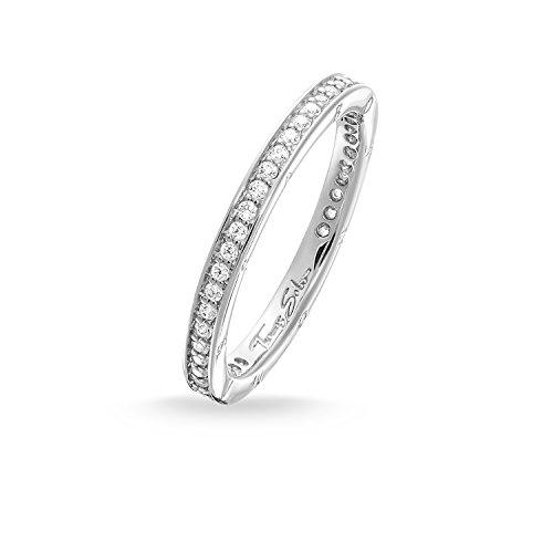 THOMAS SABO Damen-Ring Pavé Unendlichkeitsring 925 Silber Zirkonia weiß Gr. 54 (17.2) - TR1983-051-14-54