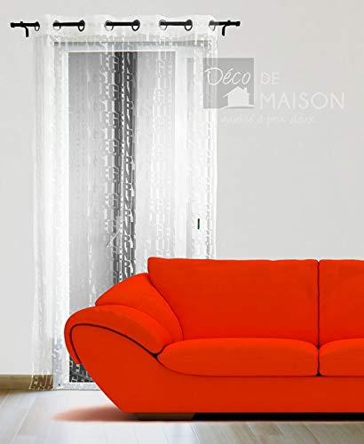 Déco-de-maison Panneau Voile - Oeillets - 135 x 240 cm - Legend Story