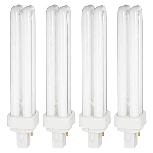 (4 Pack) PL26W/2U/850/2P/ - 26-Watt Double Tube - G24d-3 (2 Pin) Base 5000K CFL-Plug-in Replacement for