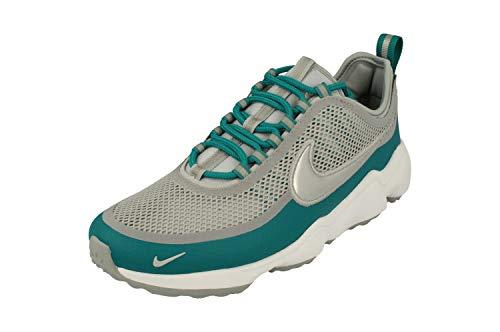 NIKE Zoom Spiridon Uomo Running Trainers 876267 Sneakers Scarpe (UK 9.5 US 10.5 EU 44.5, Wolf Grey Metallic Platinum 004)