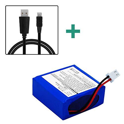 subtel®Batterij compatibel met Safescan 135i 145ix 155i 165i, 112-0410, LB-105 700mAh + USB Kabel Vervangende Accu Battery