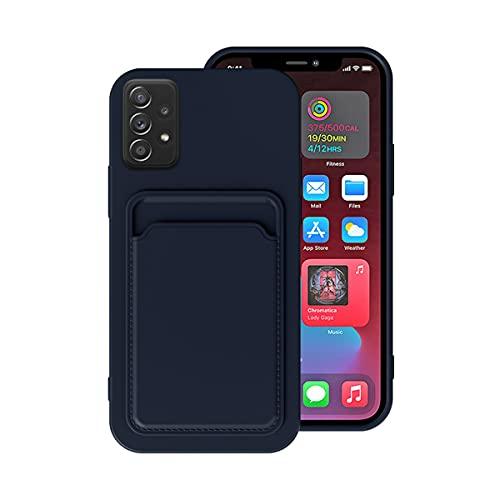 uhctup Funda Ranura Color Sólido Compatible con Samsung Galaxy J7,Silicona Liquida Suave Antigolpes Bumper Moda Conveniencia Caso con Ranura para Tarjeta de Crédito