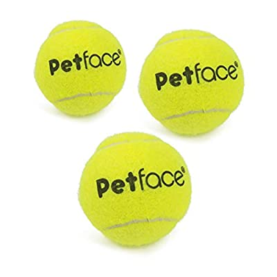 Petface Super Tennis Balls Dog Toy, 6cm, Pack of 3, Yellow