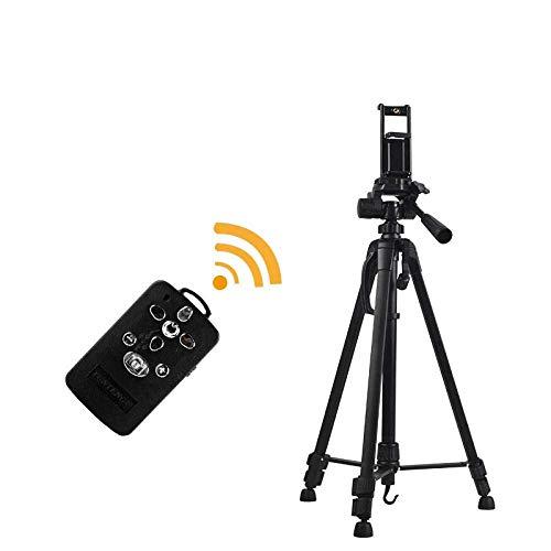 Soporte para Tableta de aleación de Aluminio, Altura Ajustable 55-150cm / 21.7-59in, Soporte Grande Negro para 3/4 / Mini Kindle iPhone 5 5C 5S 6 6 Plus Samsung Nokia HTC LG