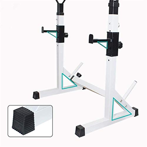 Cnley Banco de pesas de entrenamiento comercial, soporte de sentadillas, ajustable, levantamiento de pesas multifunción, para gimnasio en casa, entrenamiento de fuerza