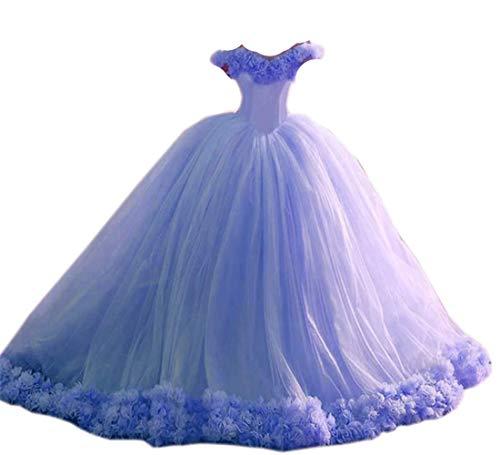 Lavender Wedding Dress Off the Shoulder