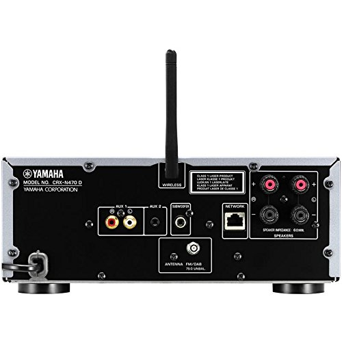 Yamaha MusicCast CRX-N470D Mini-Setup, Multiroom, CD-, MP3-Player, USB, WLAN, Bluetooth und AirPlay mit Musik (ohne Lautsprecher) silberfarben