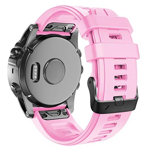Anbest - Cinturino di ricambio per orologio Fenix 5S, 20 mm, in morbido silicone, per smartwatch Fenix 6/6S Pro/Fenix 5S Plus/D2 Delta S