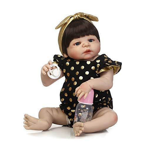 GAOFQ Muñeca Reborn de Silicona Completa de 23 Pulgadas 57 cm, muñeca de Silicona para bebés, Regalo para niños, muñeca Baby Alive, Regalo de cumpleaños para niñas y niños