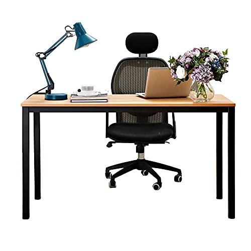 SogesHome YL-AC3-140TB - Escritorio para ordenador, escritorio de oficina, mesa de reuniones (140 x 60 x 75 cm), escritorio industrial para estudio, sala de reuniones, sala de estar, YL-AC3-140 TB