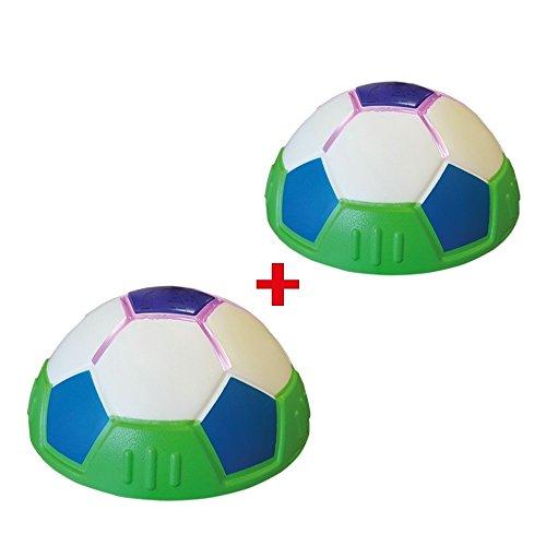 Mediashop Lighted Hover Ball 2 STK. Indoor Fußball LED Lichteffekt gleitet auf Teppich, Parkett, Kacheln, halber Ball
