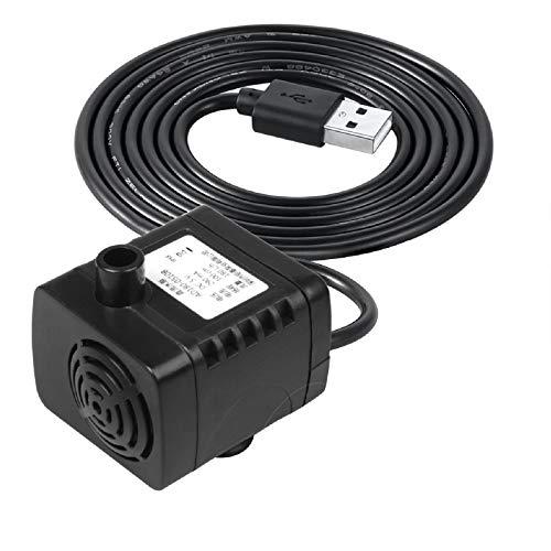 TSSS USB DC 5V Brushless Kleine Wasserpumpe 180L/H Teichpumpe Pumpe für Brunnen, Power Bank Aufgeladen