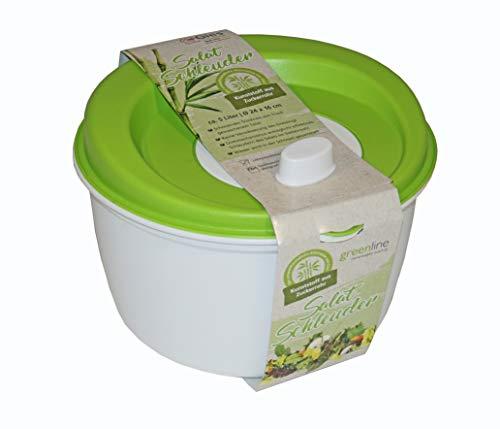 Gies Salatschleuder Ø 25 x 16 cm BPA frei recycelbar grün-weiß - Made in Germany