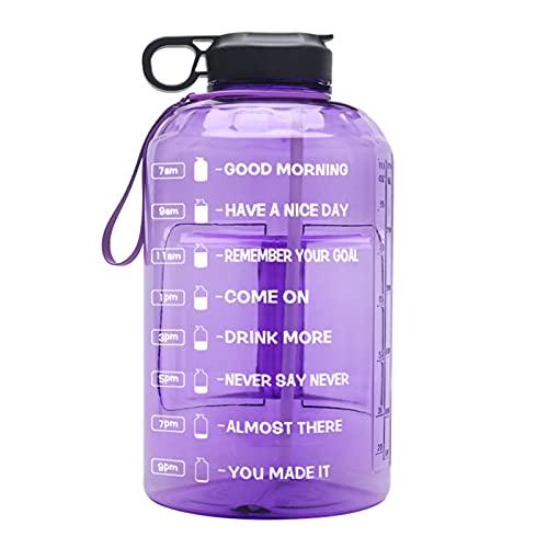 WYDMBH Botella de Agua Plegable 3.8L Tritan Gallon Botella de Agua Botellas Portátil Deportes Gimnasio Jarras Botellas de Agua Eco-Friendly Webware Shaker Fugas a Prueba de Fugas (Color : 03)