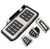 NIUASH MT 4 unids/Set Cubiertas de Almohadilla de reposapiés de Pedal de Acelerador de Freno de Embrague de Coche, para VW/Golf 7 GTI MK7 / Skoda/Octavia A7 / Audi A3 8V / Passat