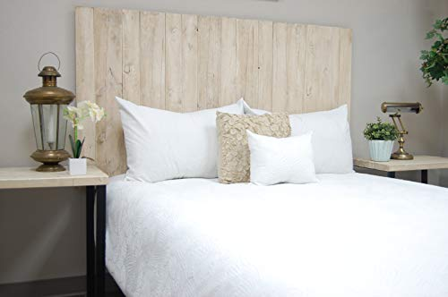Visit the Antique White Headboard Queen Size Weathered, Hanger Style, Handcrafted. Mounts on Wall. Easy Installation on Amazon.