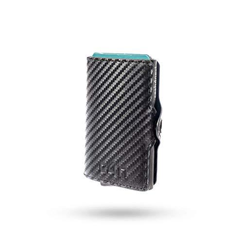 Porta Carte Di Credito Cash4next Portafoglio Uomo E Donna Porta Documenti Idee Regalo Blocco RFID Anticlonazione Schermato Fibra Di Carbonio Alluminio Sottile Leggero