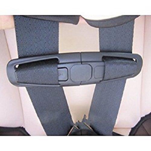 Uteruik - Pettorina per seggiolino auto con fibbia di sicurezza, colore nero