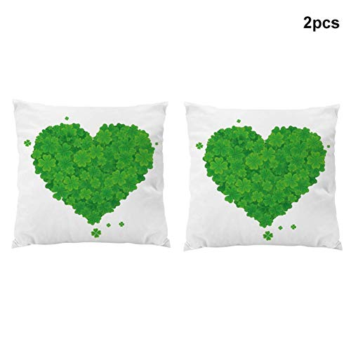 2 stuks St. Patrick's Day Pluche Kussen Cover Irish Bank Kussen Holiday Kussen for Couch Sofa Bed Thuis aijia (Color : D)
