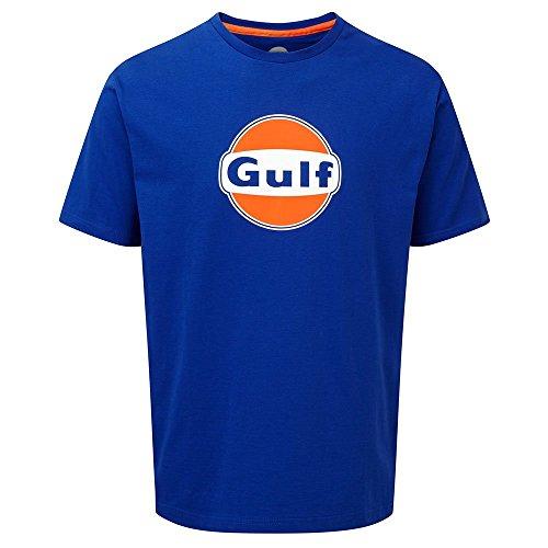 Gulf Oil heren T-shirt, blauw, S