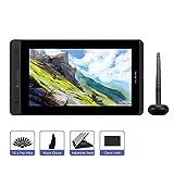 HUION KAMVAS Pro 12 11,6 Tableta Gráfica con Monitor sin-batería Lápiz Interactivo con Función de Inclinación de 120% sRGB Completamente-Laminado con Panel Anti-Reflejo (GT-116)