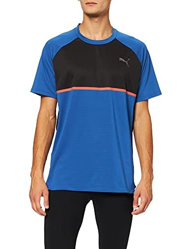 Puma Power BND tee Camiseta, Hombre, Azul (Galaxy Blue Black), M