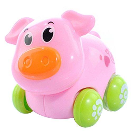 Lot de 2 Wind-up mignon de porc voiture jouet pour bébé / enfant (Multicolor)