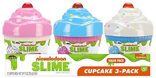 Cra-Z-Art Nickelodeon Slime Scented Slime Cupcake Pre-Made Slime 3pk