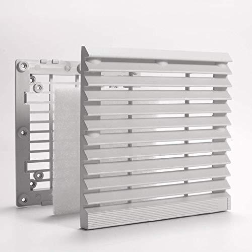 YOUCHOU Filtro de ventilador de 148 mm IP40 protector de ventilador a prueba de polvo ABS rejilla de ventilador de computadora 15 cm rejilla de ventilador filtro de ventilador compatible sin herramien