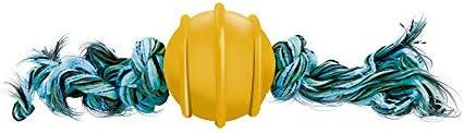 Bola Maciça Colorida 50mm, Corda de 2 Nos Furacão Pet para Cães