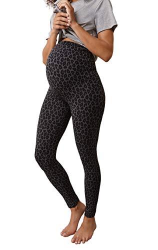Boob Damen Umstands Leggings Schwangerschafts Leggings Über den Bauch aus Nachhaltigen Fasern (XL)