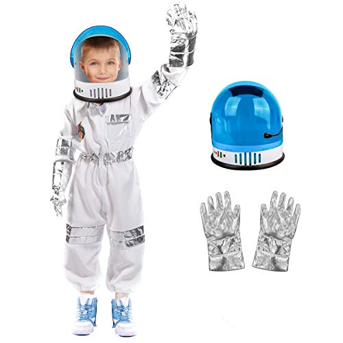 Astronaut Costume for Kids - Children Space-Suit with Astronaut-Helmet, Birthday Gifts for Boys Girls, Toddlers Pretend Role Play Dress Up