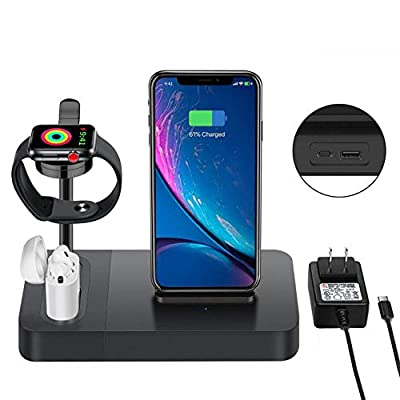 Wireless Charger Station for Watch Stand 3 in 1 Airpods Charger