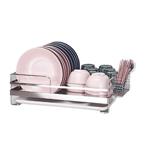 Cxp Boutiques -Escurreplatos 304 Estantes de Cocina de Acero Inoxidable Rack de Platos Rack de desagüe Rack de Platos Rack Dish Rack Storage Supplies Cup Holder (Color : B)