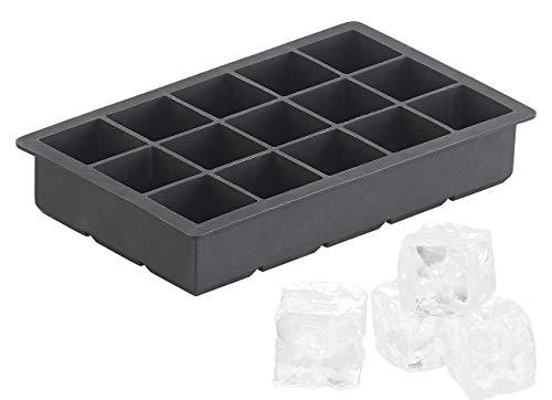 PEARL Eiswürfelbehälter: Silikon-Eiswürfelform für 15 kleine Eiswürfel je 3x3x3cm, 500ml (Eiswürfel-Form)