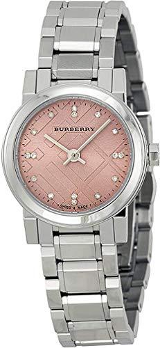 Swiss Diamonds BU9223 - Reloj de pulsera para mujer (26 mm, acero inoxidable), color plateado y rosa