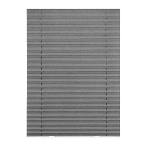 Lichtblick Dachfenster-Plissee Haftfix, 59,3 x 122 cm (B x L) in Grau, Sicht- & Sonnenschutz-Rollo ohne Bohren, Jalousie mit Saugnäpfen, für (Dachflächen-) Fenster, Velux-kompatibel (M08/MK08)
