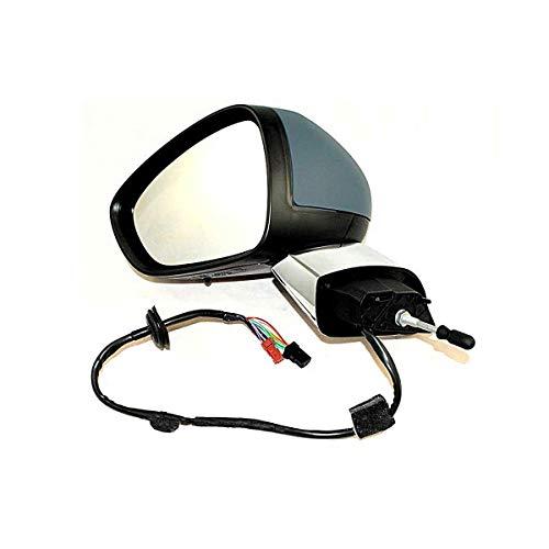 Elektrische achteruitkijkspiegel, elektrisch, inklapbaar, met koplamp, verchroomde basis en afdekking, voor Citroen C3 vanaf 2013 tot nu.
