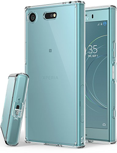 Ringke Fusion fürs Xperia XZ1 Compact [Transparent] Kartzfest Hart Klar Rückseite mit Flexibel Silikon Stoßfest Rahmen