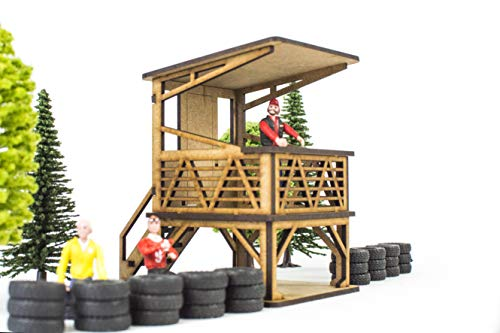 PROSCALE Guardhouse for slot car 1 32 decorazione modellismo originale slot racing vintage pit stop lane building garage figure diorama accessori vai