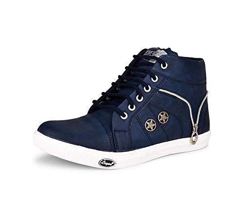ESSENCE Men's Blue VC 3101 High Top Shoes-5